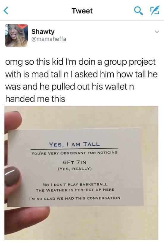 I am not so tall - meme