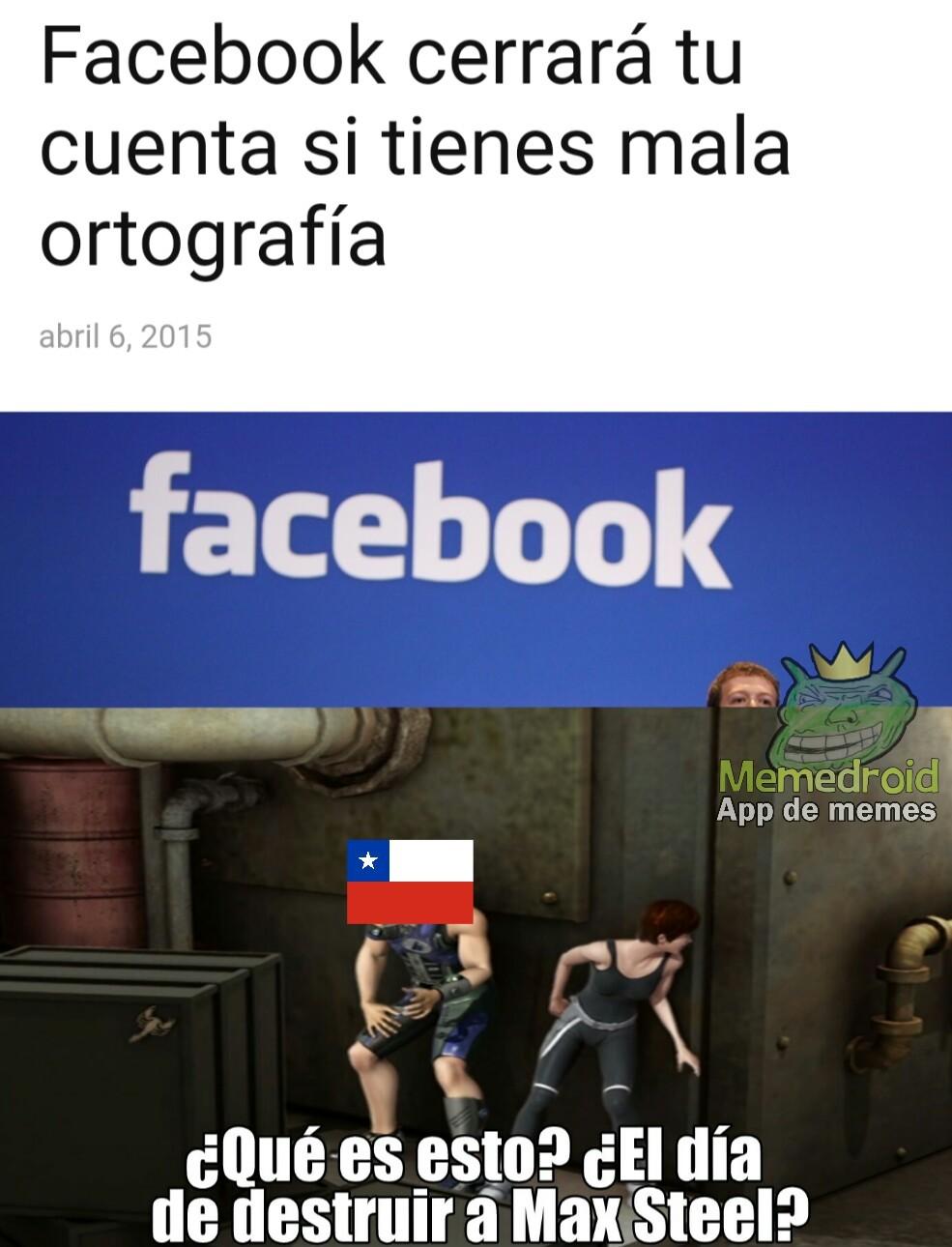 aii kliche desir k los chilenos ablan mal reportado por no ser orijinal - meme