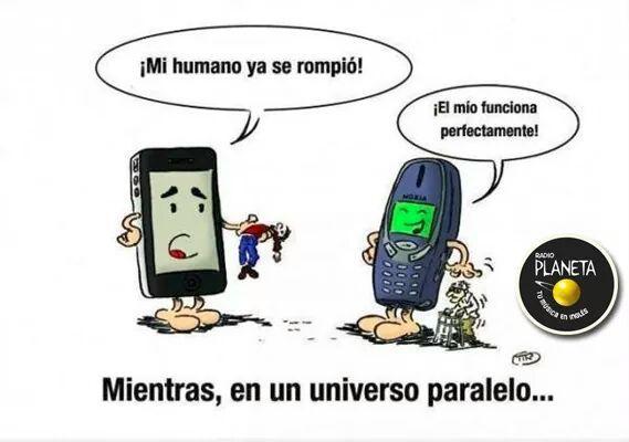 Celulares Iphone y Nokia 3310 - meme