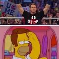 John Cena con pelo