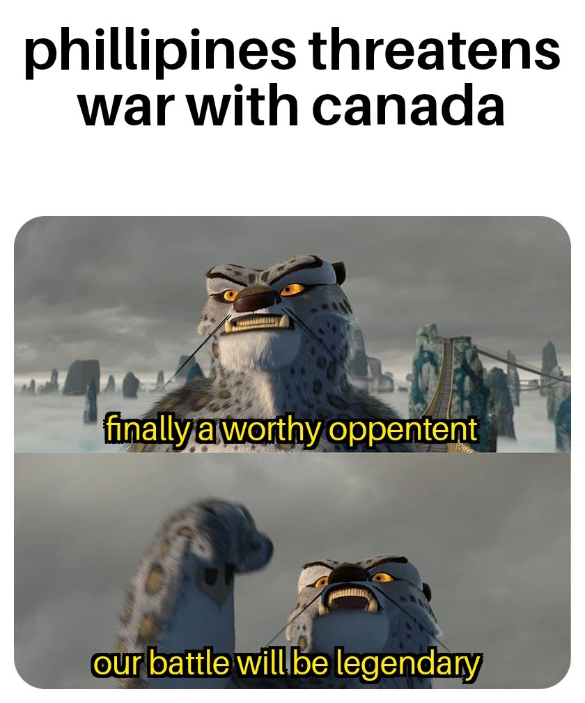 Canada not disposing properly of their waste - meme
