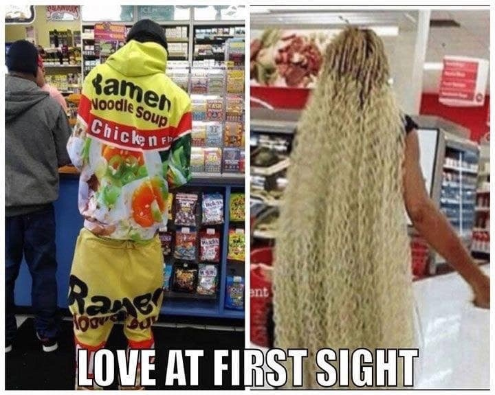 Love at first sight... - meme