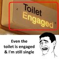 Toilet engaged