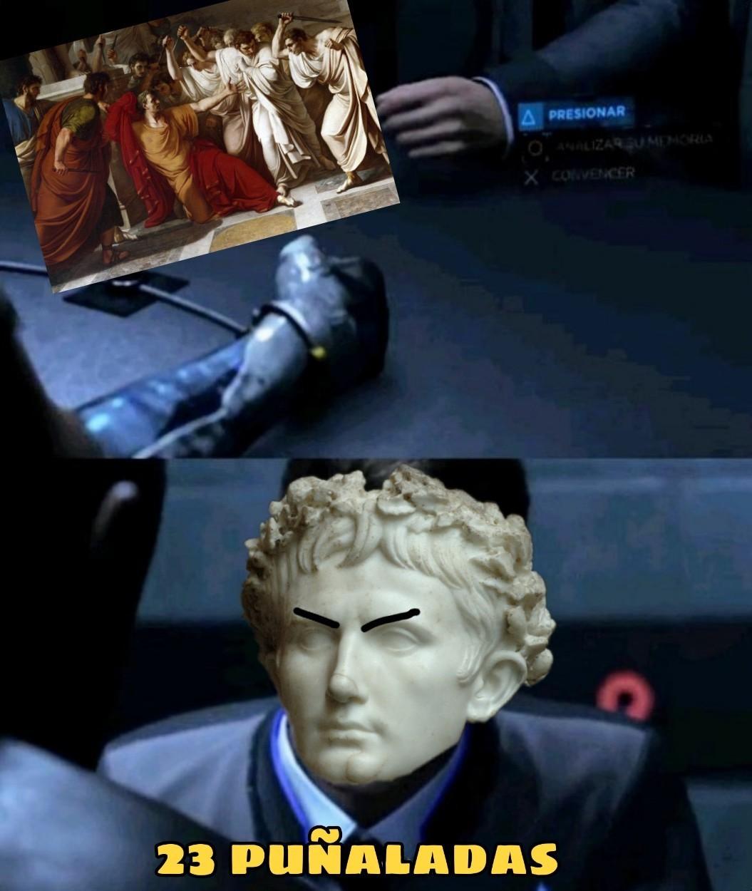 Asesinato de Julio César - meme
