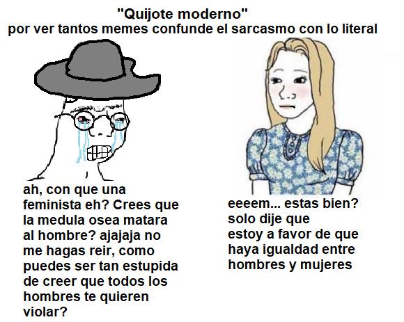 quijote moderno - meme