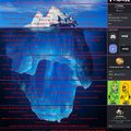 O iceberg do Memedroid Podcast. Meme feito pelo Okayjo,e editado pelo XplayerRafael123