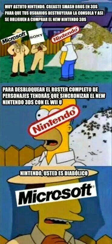 Los Nintendo son del diablo - meme