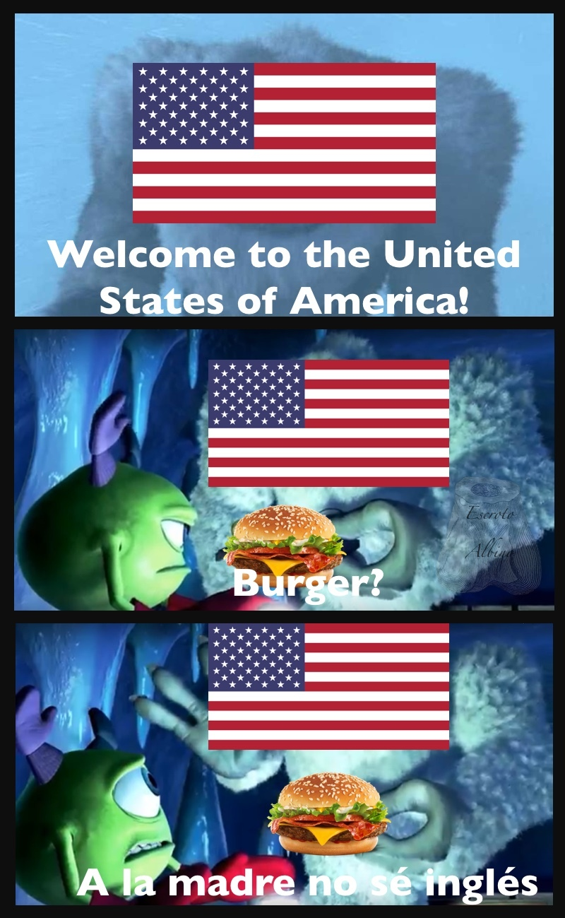 Bueno, una hamburguesa es una hamburguesa. - meme