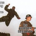 99% of illegal immigration is by airplane, not crossing borders.