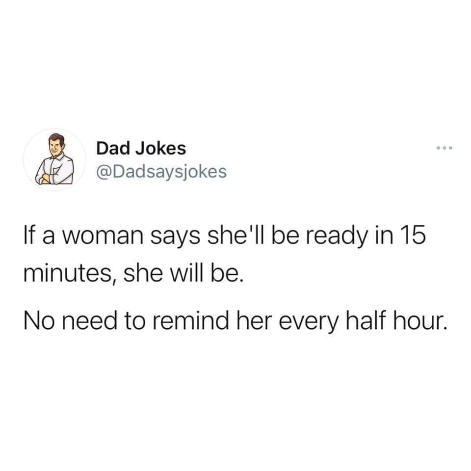 Another classic dad joke - meme