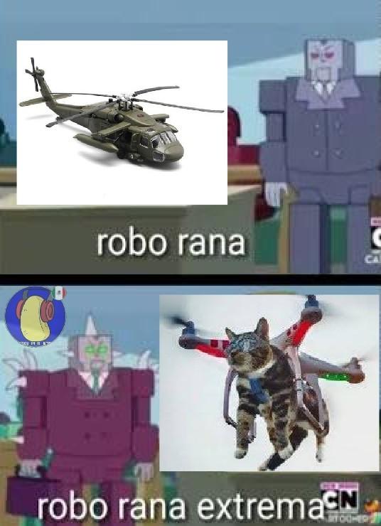 ¡¿Robo rana extrema?! :raising: - meme