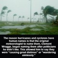 Hurricanes are probably less destructive