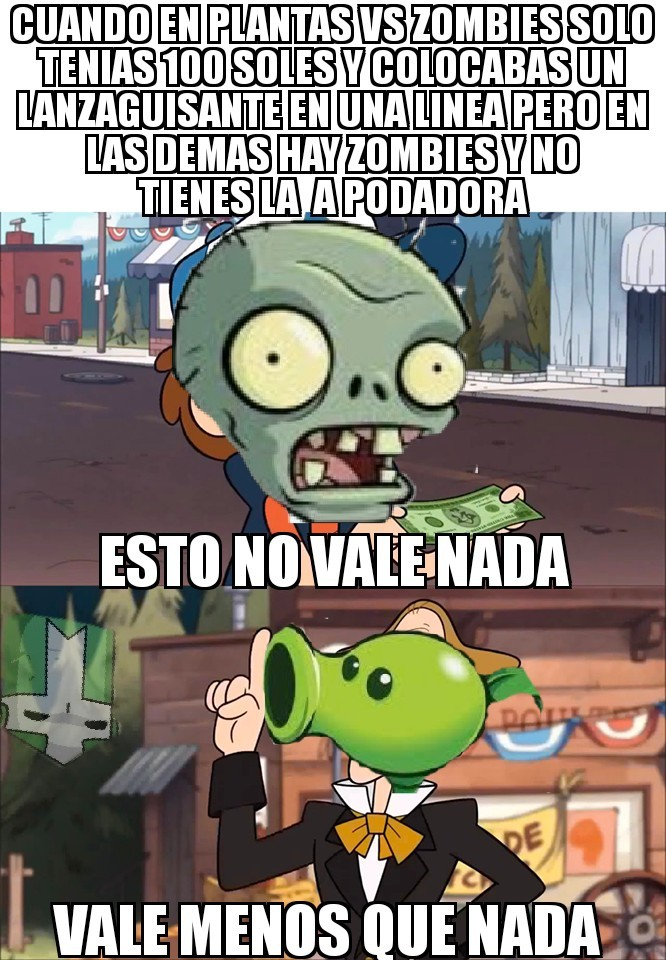 Plantas vs zombies - meme