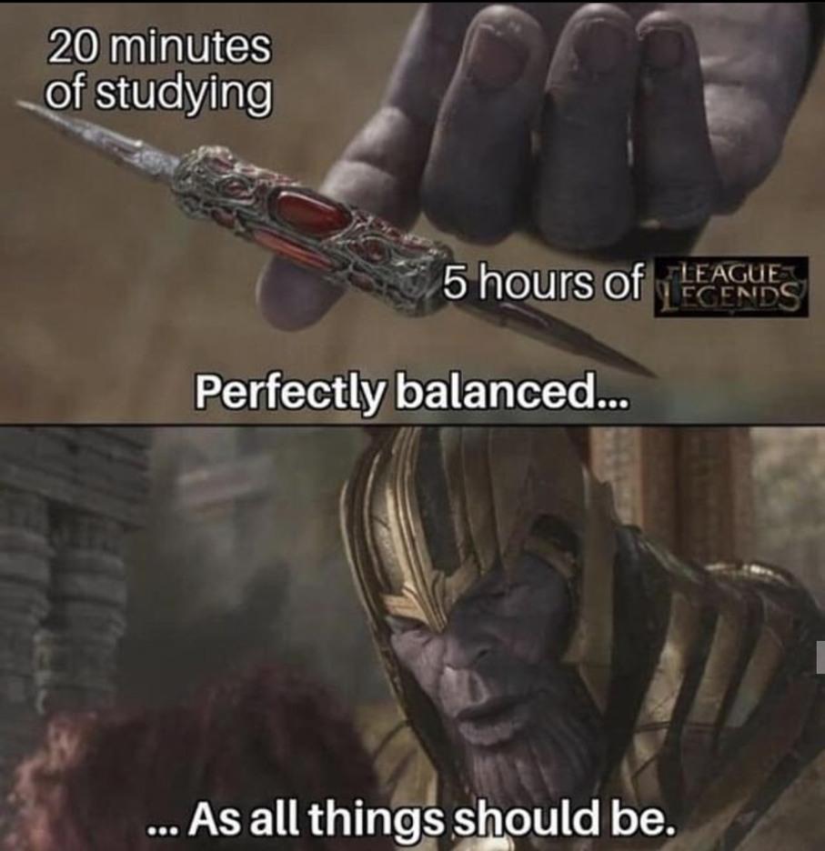 Balanced. - meme