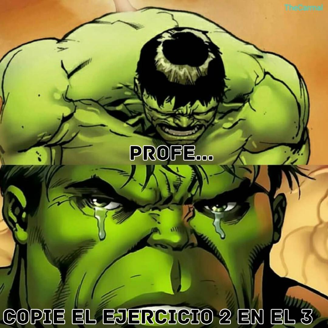 Hulk triste :( - meme