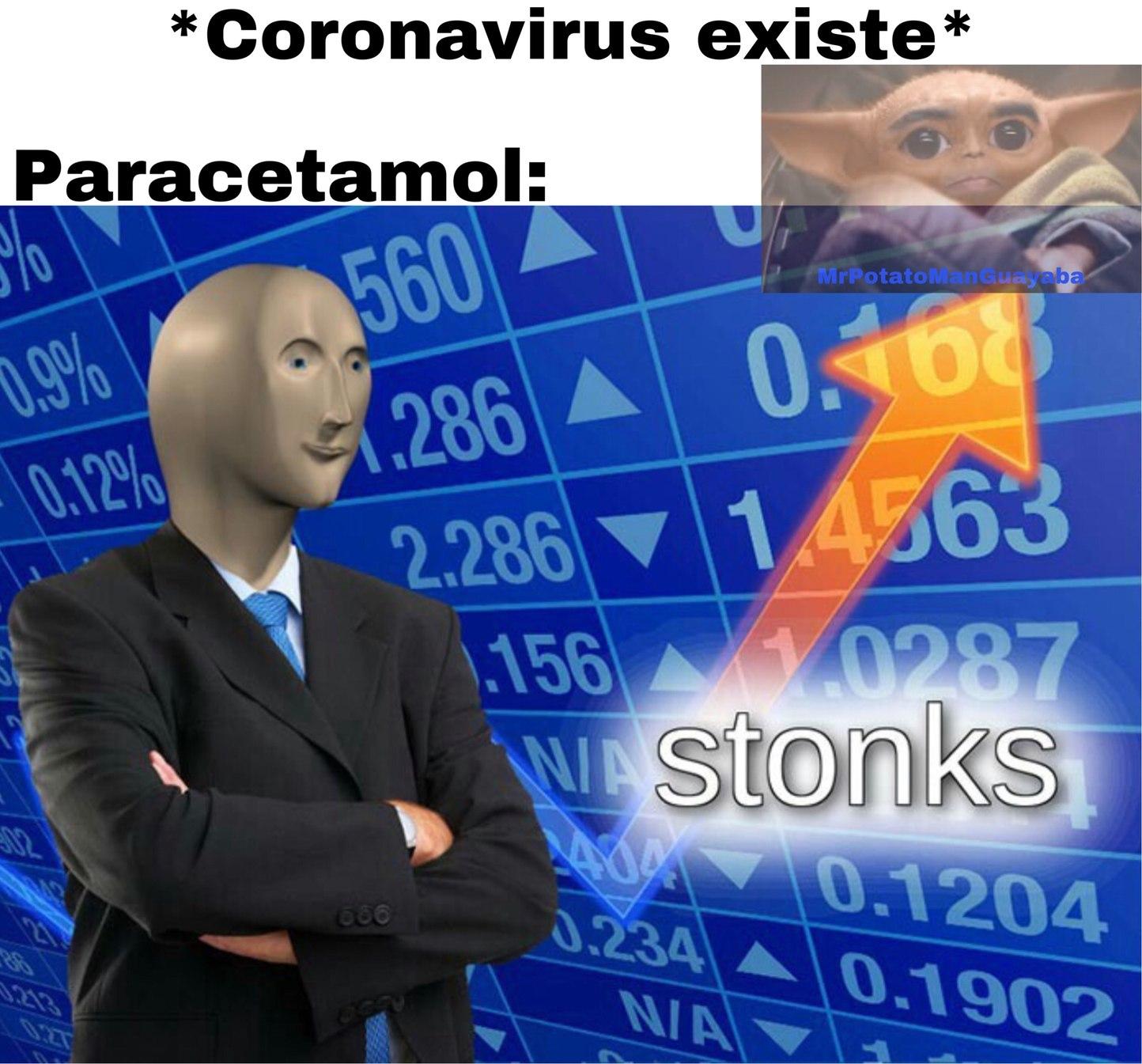 paracetamol: cura contra Coronavirus - meme