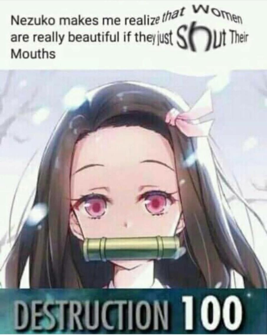 Protecc Nezuko - meme