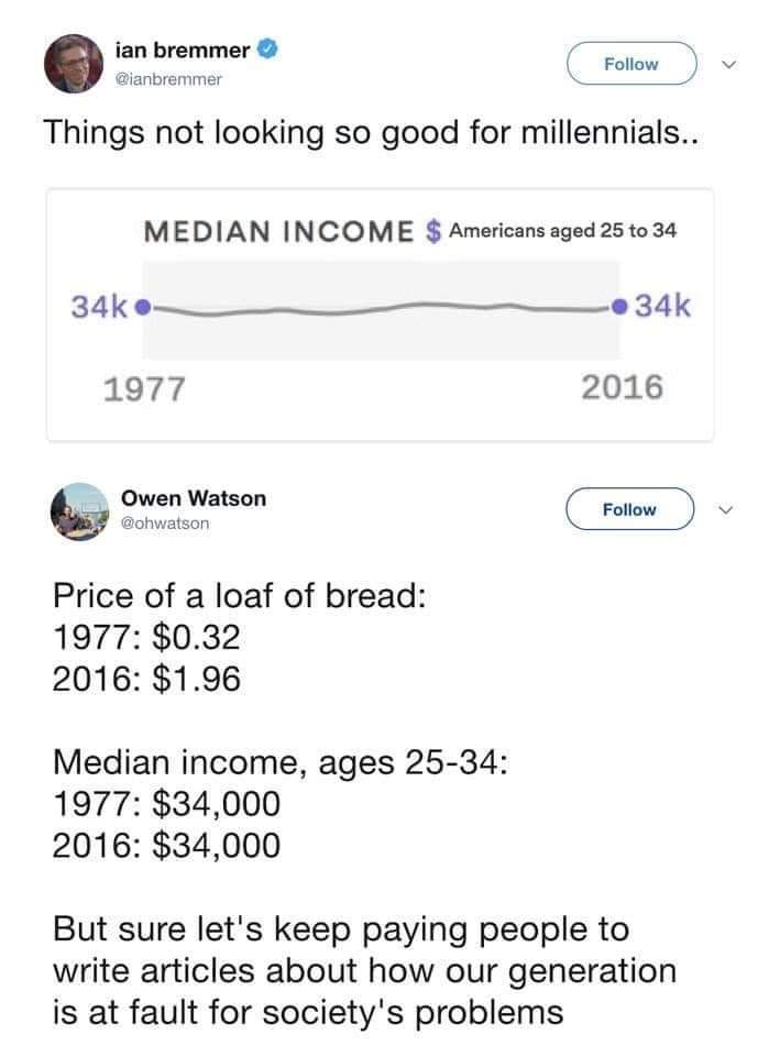 Housing and education prices SKYROCKETED - meme