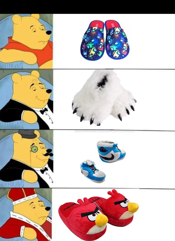 Comprando las pantuflas de mi hijo - meme