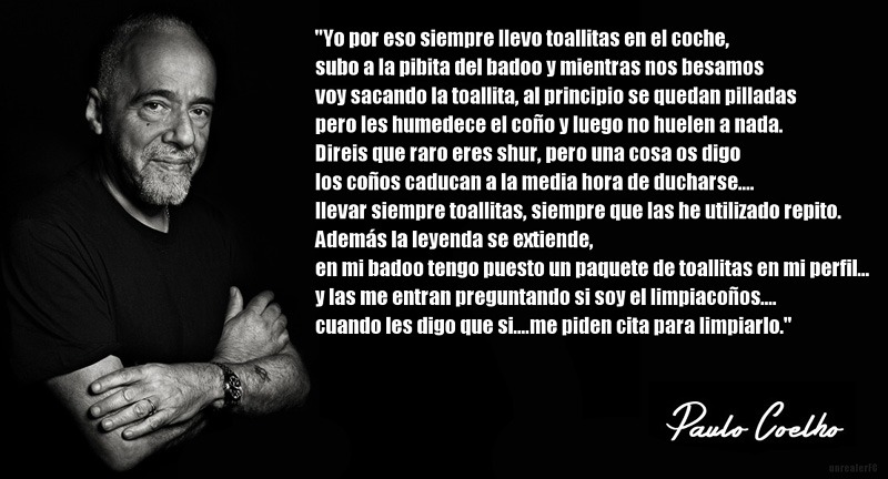 Que Sabio Paulo Coelho. - meme