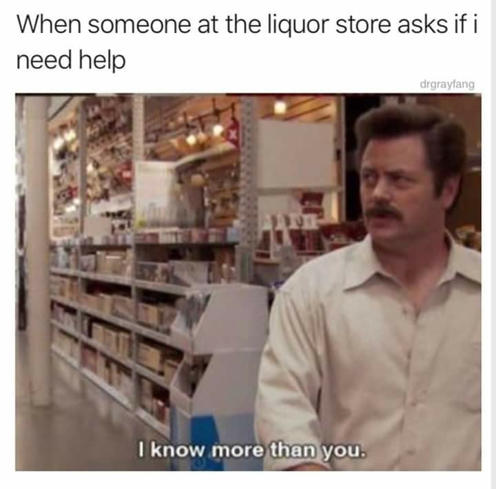 I'm not an alcoholic I swear - meme
