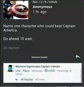 Captain America vs Captain Vietnam - meme