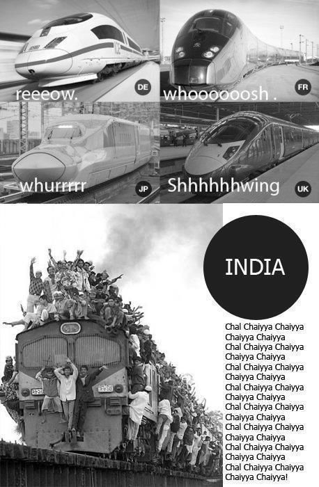 Trains in india be like - meme
