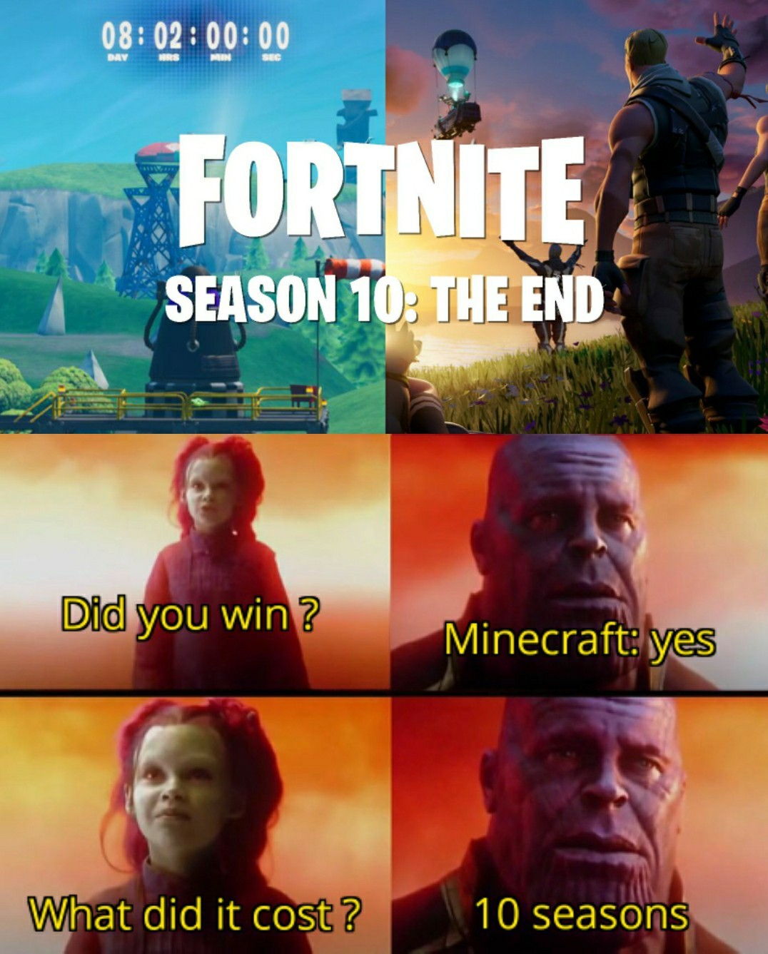 Minecraft won - meme