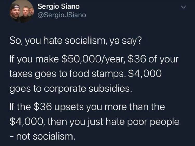 oh you hate socialism? - meme