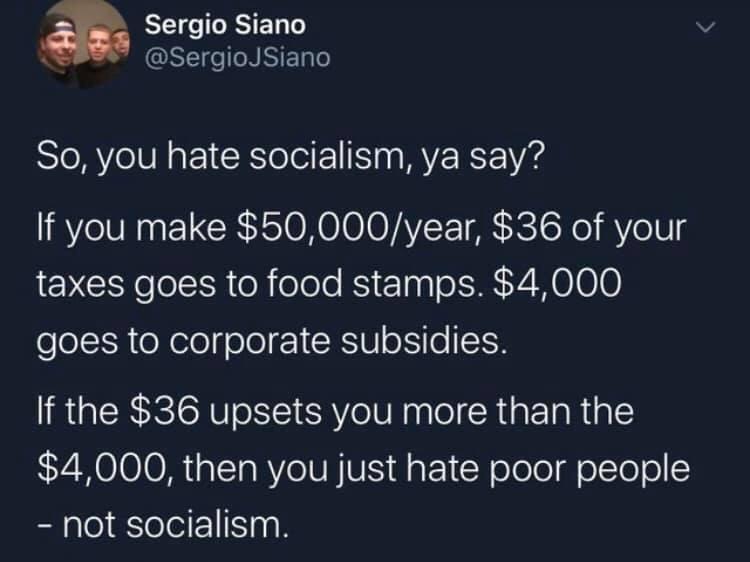 oh you hate socialism? - meme