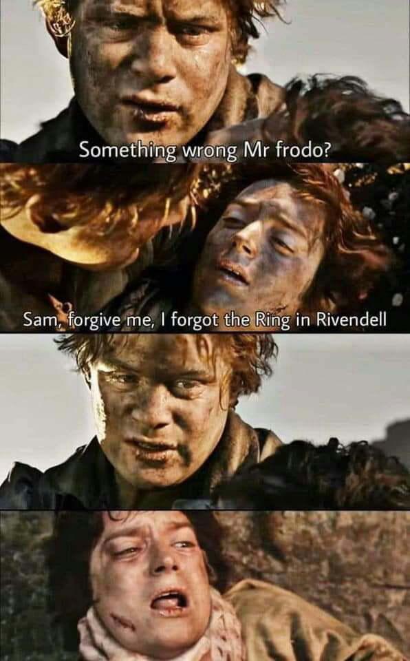 It's not funny mr Frodo - meme