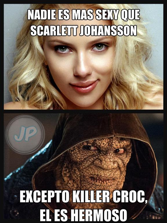 Estúpido y sensual killer croc - meme
