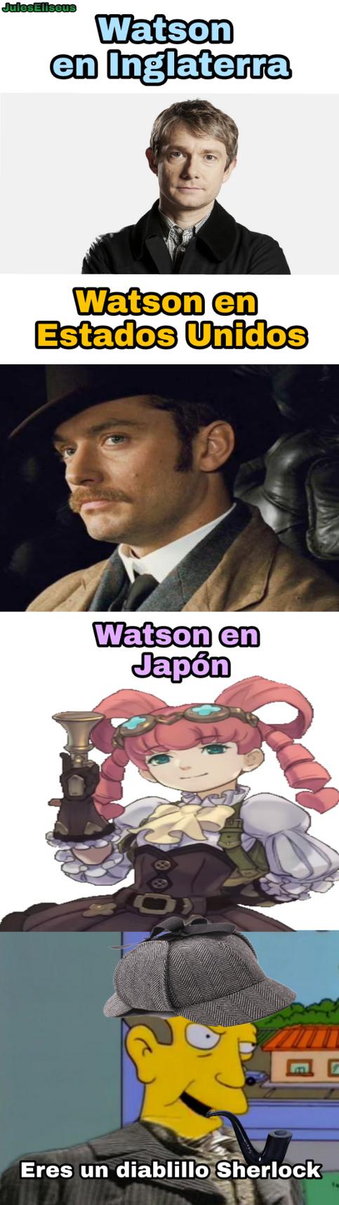 Sherlock Holmes y el caso nipón - meme