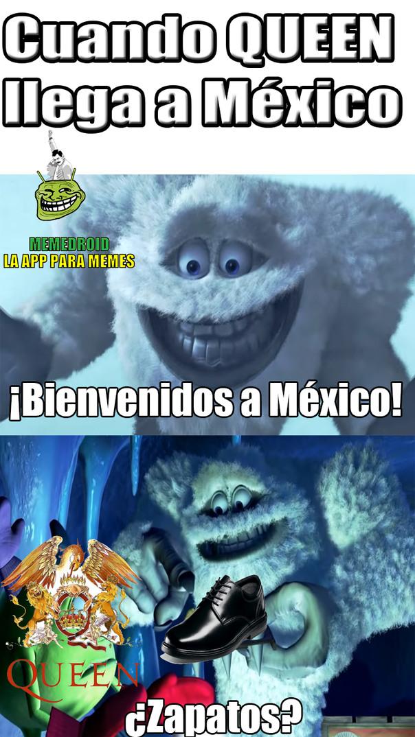 Asi fue como México recibió a Queen - meme