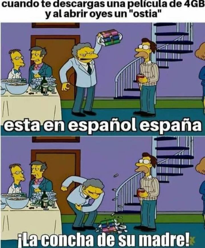 En el caso de los españoles sería si escucharan un.... bueno no aplica porque es neutro - meme