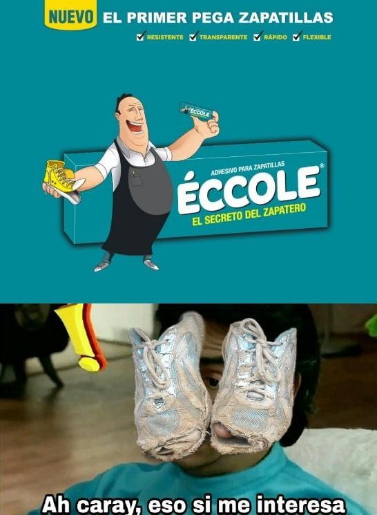 pegamento para zapatillas - meme