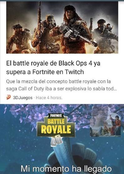 El título está jugando el batlle royal en Black Ops 4  :) - meme