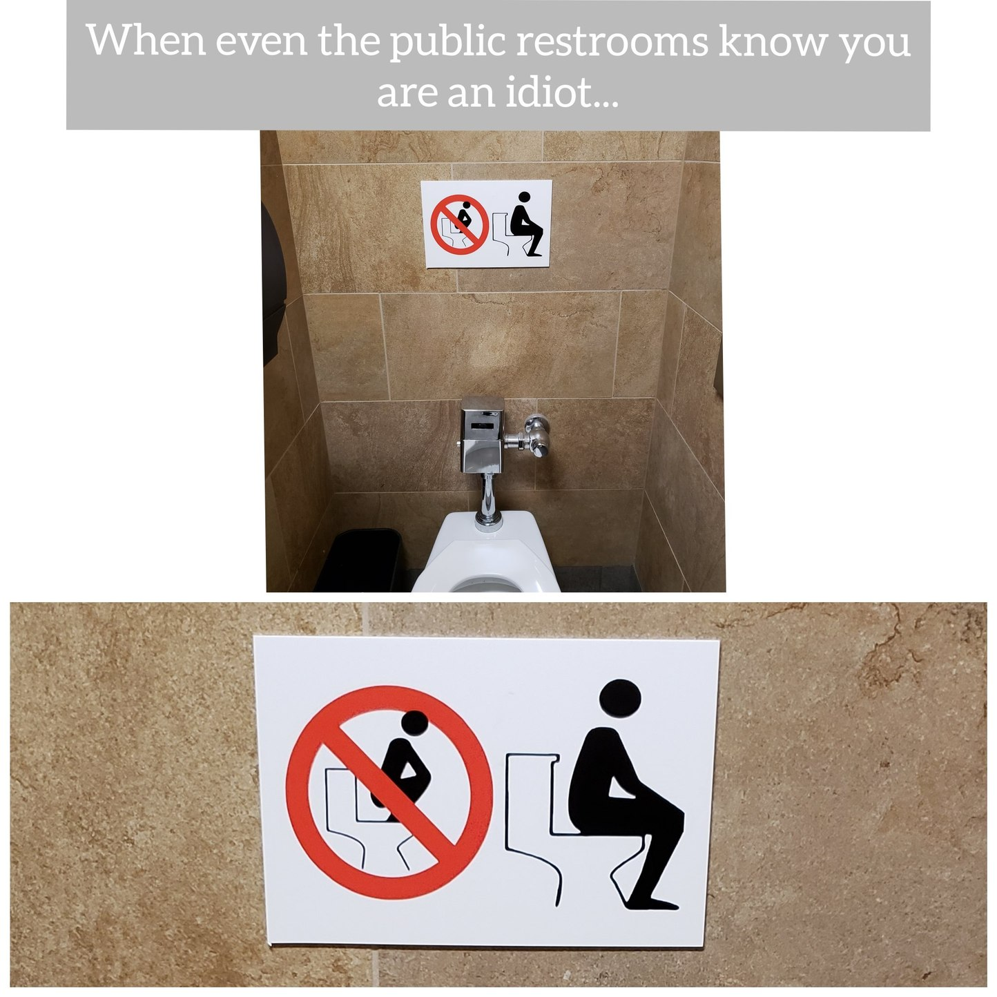 Toilet instructions are very important... - meme