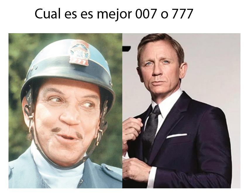 007 o 777 - meme