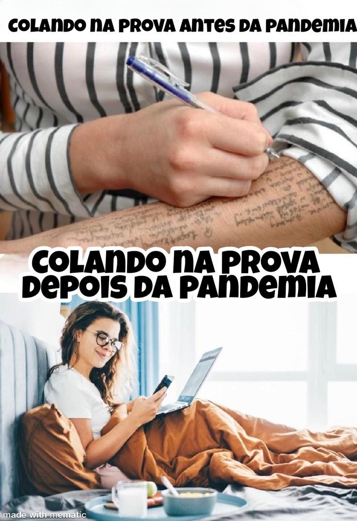 Colas antes vs depois da pandemia - meme