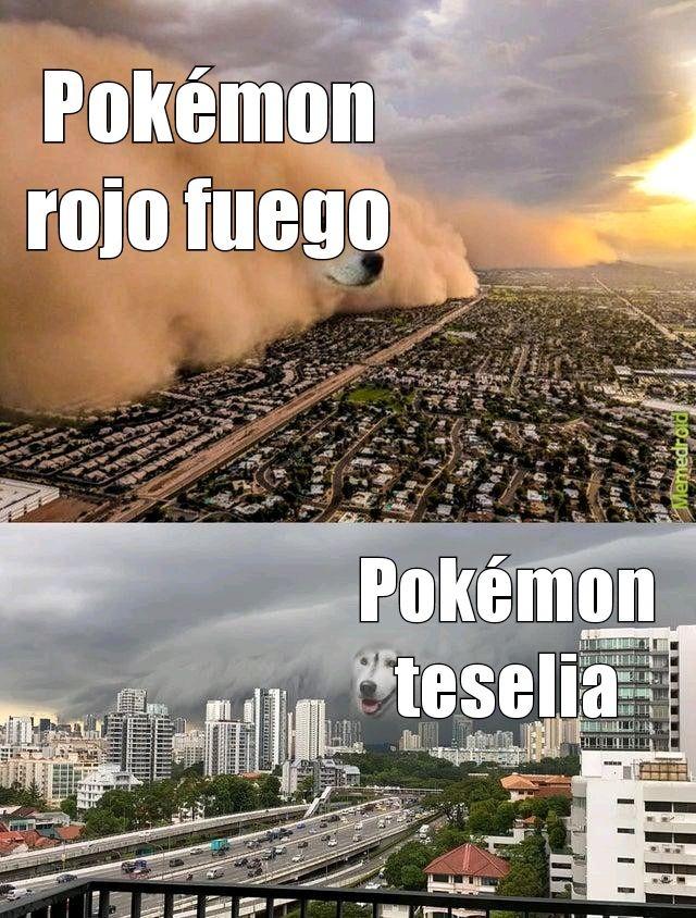 Pokémon rojo fuego - meme