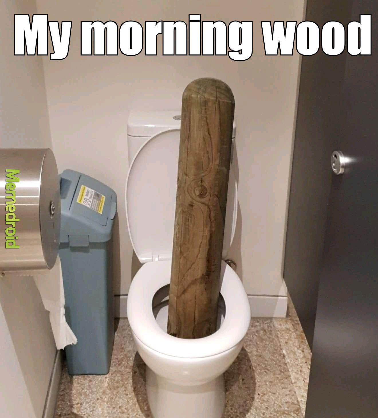Morning wood - meme