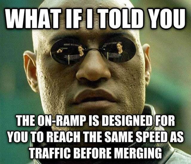 Accelerate when merging bitches - meme