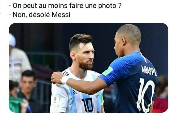 Mbappe X Messi - meme