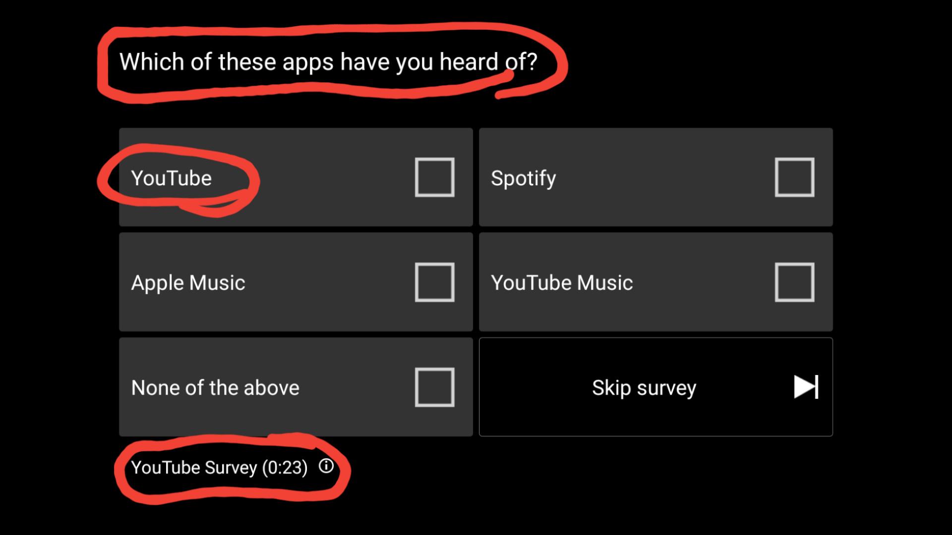 Youtube serveys - meme