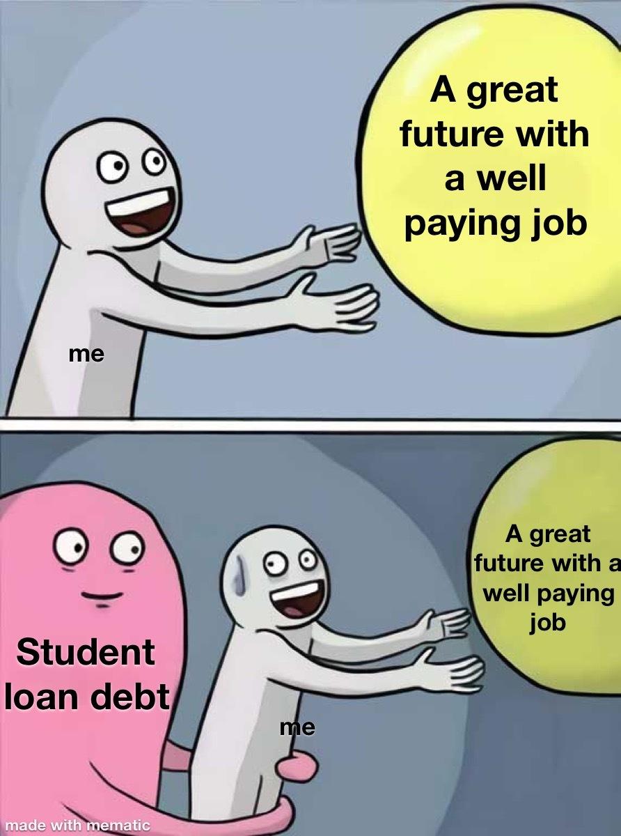 debt till i'm 76 - meme