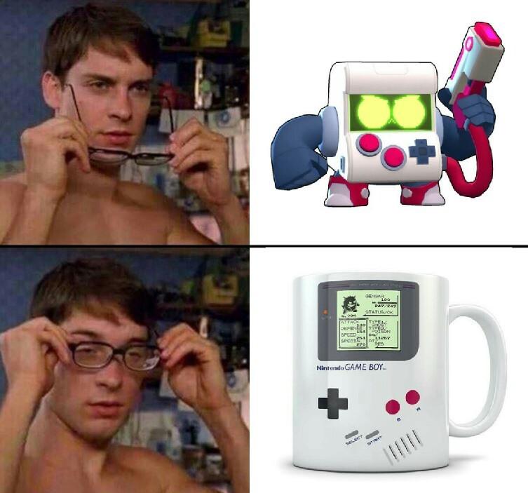 Game boy versión taza de cafe - meme