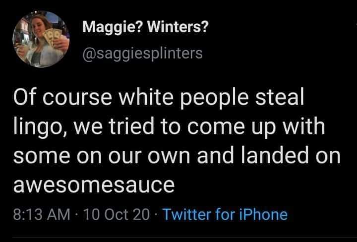 White people have no language skills - meme