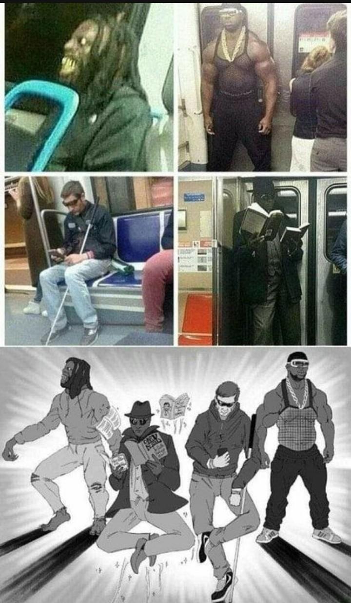 Los 4 jinetes del metrocalipsis - meme