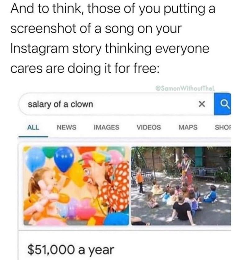 What a clown - meme